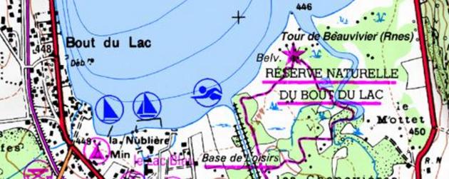 Le bout du lac à Doussard (Haute-Savoie)