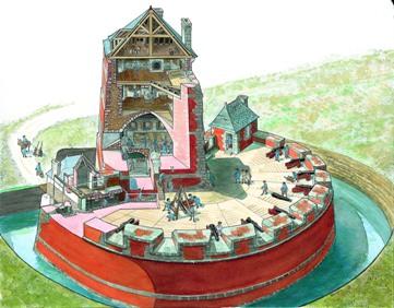 La Tour Vauban Camaret-sur-Mer dessin de Lionel Duigou