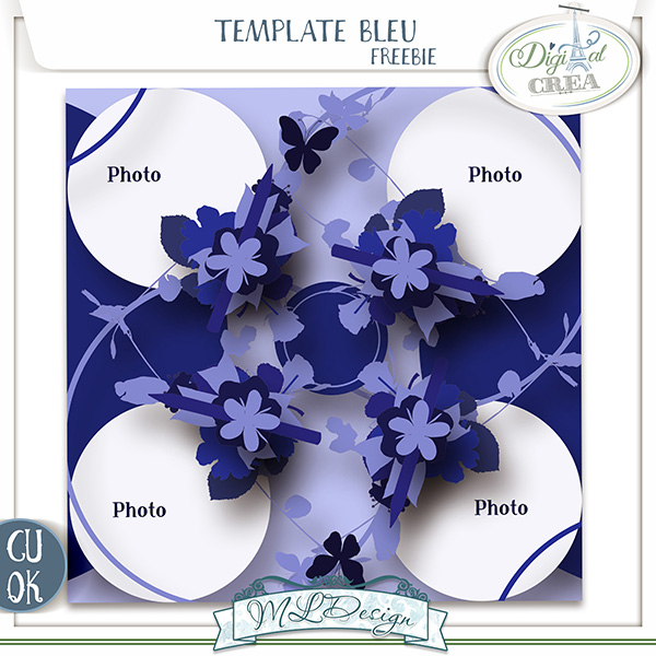 TEMPLATES BLEU BY MLDESIGN +FREEBIE