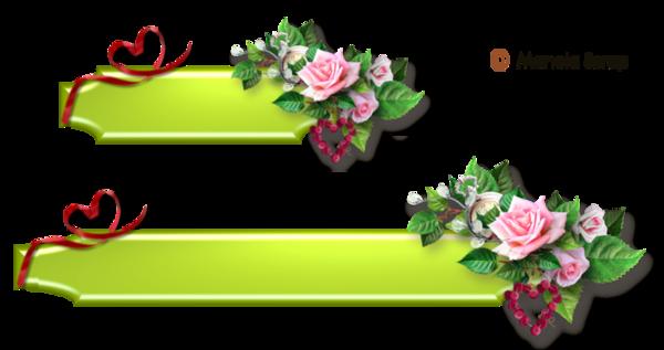 Boutons floral et décoratifs pour blogs page 4