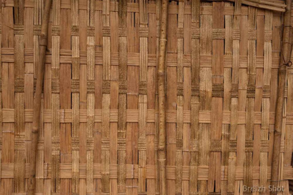 Nam Dee : Détail de bambou tressé