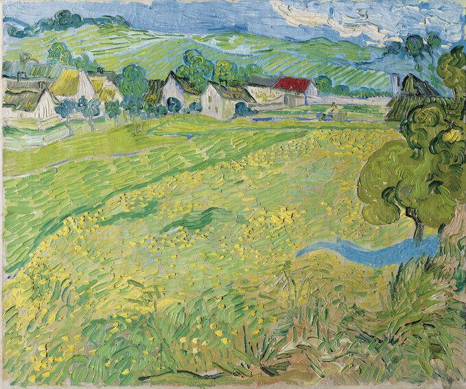 Vincent van Gogh, Les Vessenots en Auvers 1890 Óleo sobre lienzo 55 x 65 cm Museo Thyssen-Bornemisza,, ,Nº INV. 559 (1978.41), Van Gogh ,  Musée Thyssen-Bornemisza ,Madrid