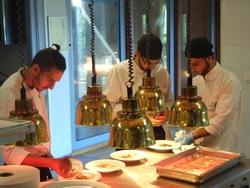 Cours de cuisine des étudiants palestiniens