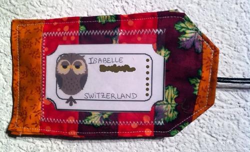 Sac à sacs et étiquette de valise...
