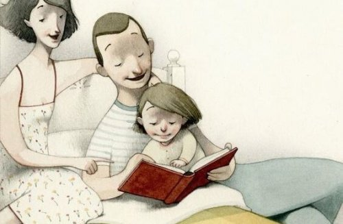 Pere-et-mere-lisant-dans-le-lit-500x327