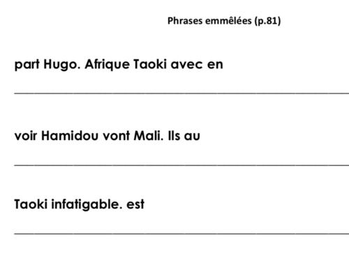 Phrases emmêlées p.81 (avec Taoki) - Révisions n°5