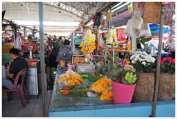 Marché de Jomtien. Thaïlande