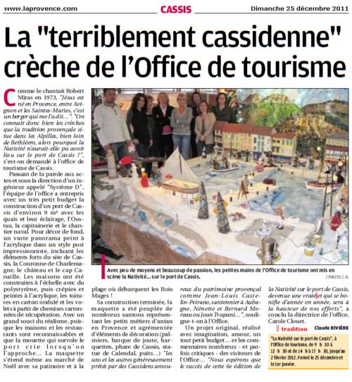 """Cassis : La crèche """"terriblement cassidenne"""" de l'office de tourisme"""