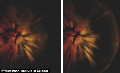 Explosion d'une étoile en supernova