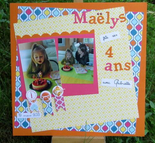 Page : Maëlys a 4 ans