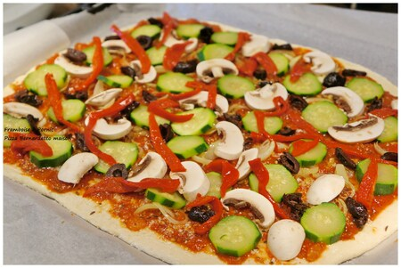 Recette de la Pizza Bernadetto - Lamelles de poivrons