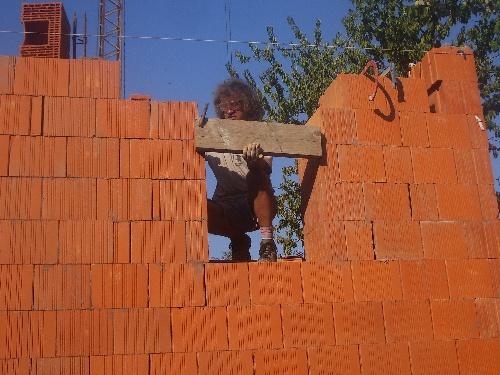 les linteaux +montee mur derniers rang...