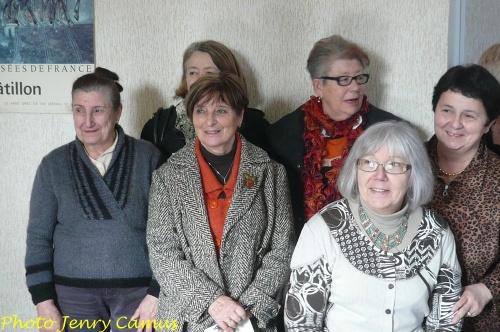 Première réunion des peintres de la Section-Peinture des Amis du Châtillonnais en 2012