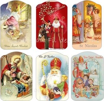 Fête de la St Nicolas le 6 décembre ! cartonnettes