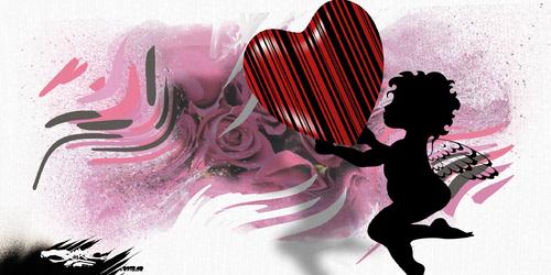 dessin de JERC du jeudi 15 février 2018 caricature Saint Valentin monnayer l'amour www.facebook.com/jercdessin