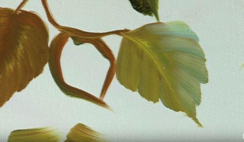 Dessin et peinture - vidéo 2836 - Comment peindre un oiseau sur la branche et son feuillage ? - huile ou acrylique.