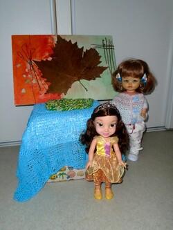 Tableau d'Automne de Rosalie et Belle