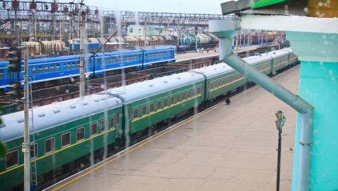 Le train blindé de Kim Jong Il quittant la Russie pour la Chine