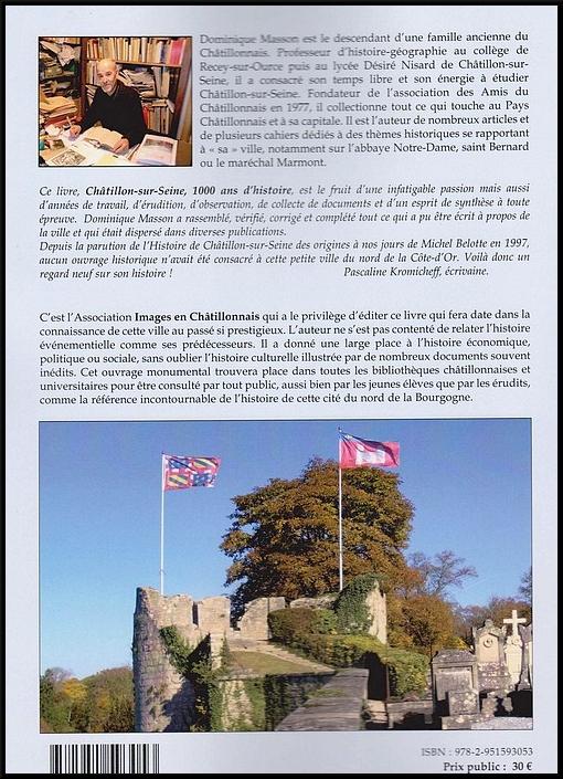 """""""Châtillon sur Seine, mille ans d'histoire"""", le nouveau livre de Dominique Masson, a été présenté salle des conférences"""