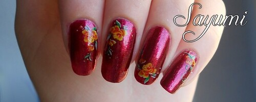 Nail Art Faux One Stroke