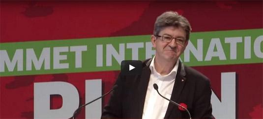 Jean-Luc Mélenchon, candidat à l'élection présidentielle, sans le Front de gauche