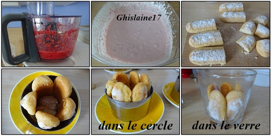 Mini charlottes aux fraises (version traditionnelle et en verrine)