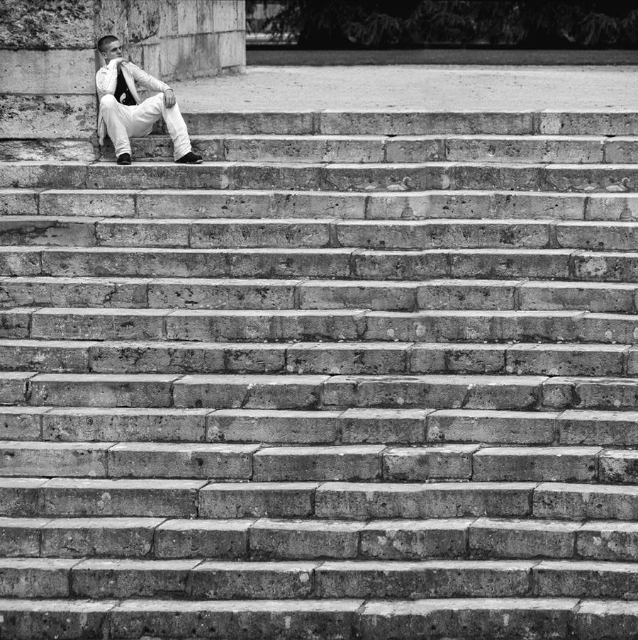 escalier...