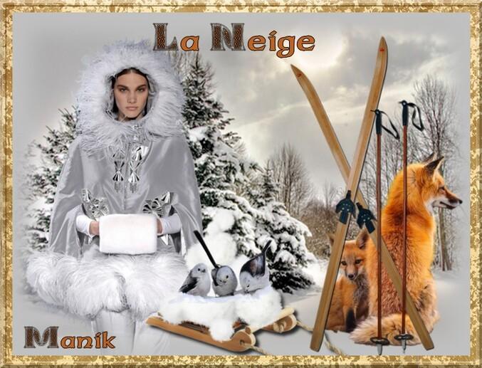 """Defi pour Cerise déco """" La Neige """""""