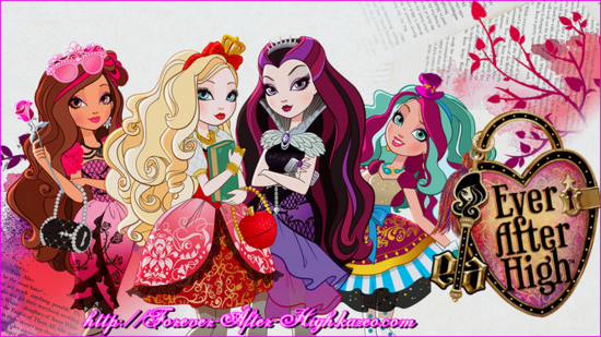 ever after high - Apple White + Madeline Hatter + Briar Beauty & Raven Queen
