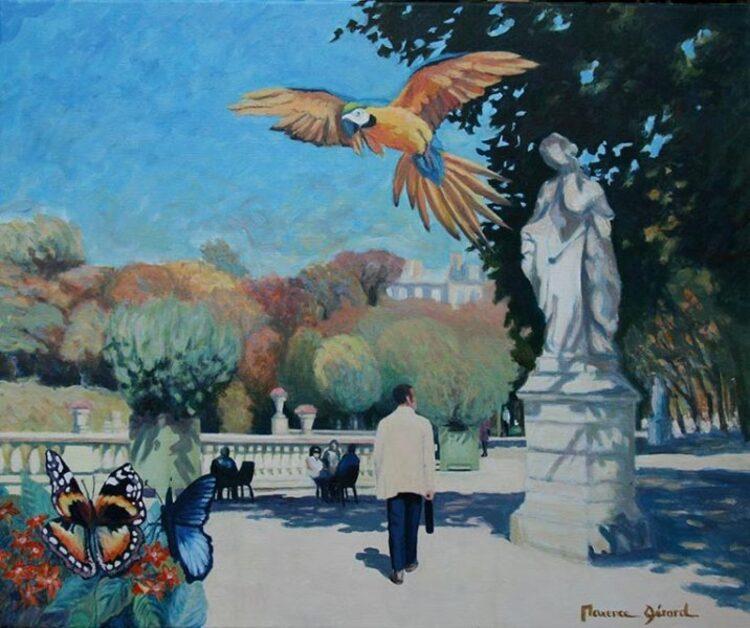 Maxence Gérard. La terrasse du Jardin du Luxembourg.