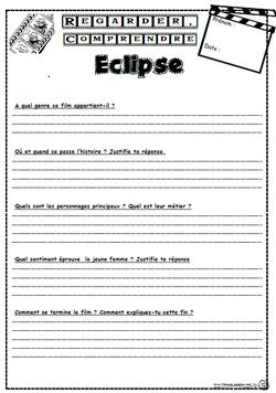Eclipse, film, compréhension