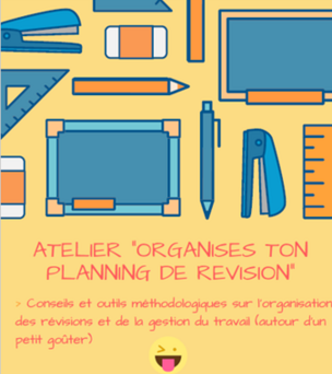 """Atelier """"Organises ton planning de révision """""""