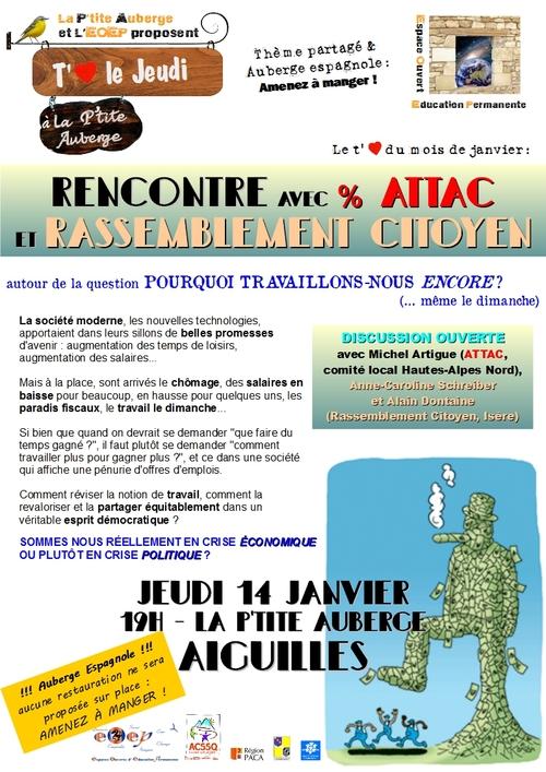 Rencontre avec Attac et Rassemblement citoyen
