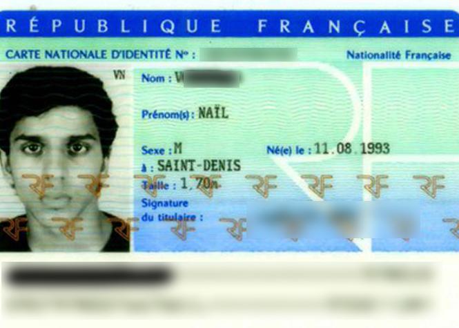 Copie de la carte d'identité de Nail V.