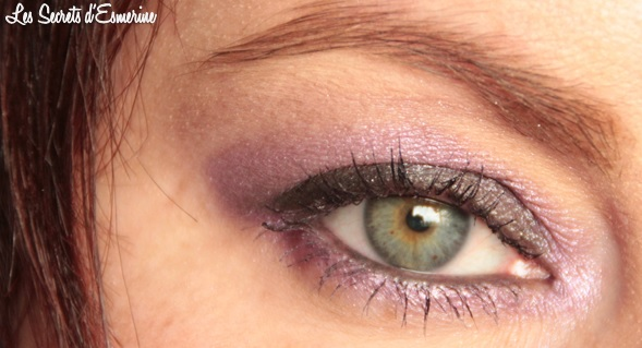 maquillage, makeup, violet, gris, dark, purple, kiko, color impact, rain smoky shades, eyes