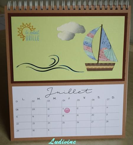 Calendrier AZZA : mois de juillet -1