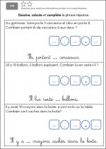 Exercices de maths CP 2012 trimestre 2