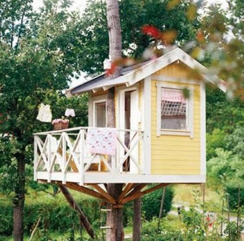 Les petites maisons dans les arbres.