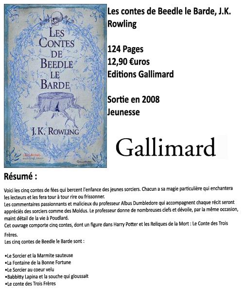Les contes de Beedle le Barde, J.K. Rowling