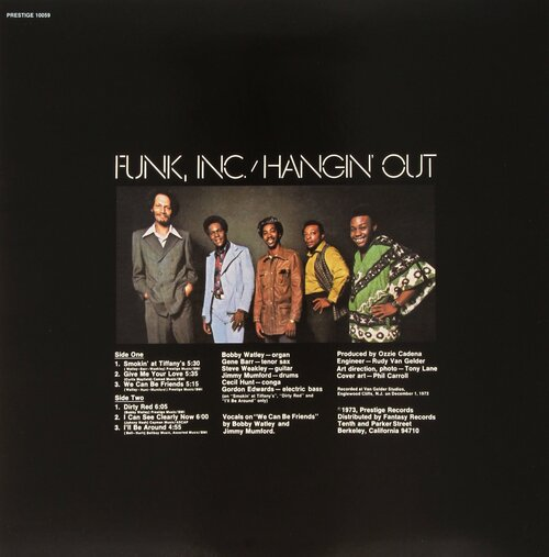 "Funk Inc. : Album "" Hangin' Out "" Prestige ‎PRST 10059 [ US ]"