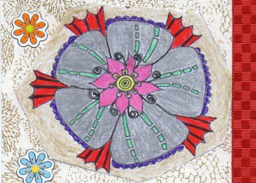 "Echange ATC ""coloriage zen"" chez Brodi"
