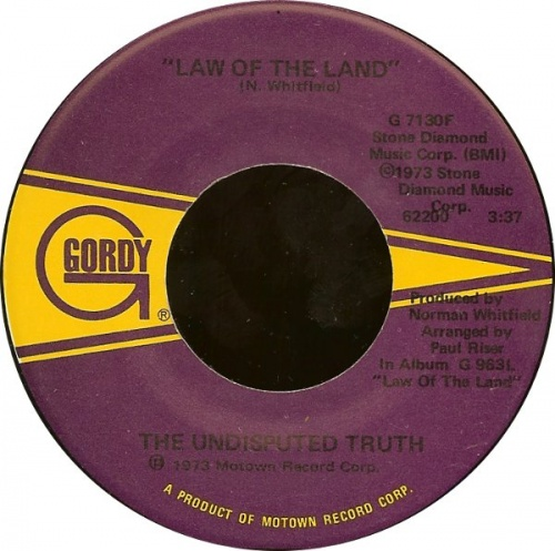 1973 : Single SP Gordy Records G 7130F / G 7130F Promo [ US ]
