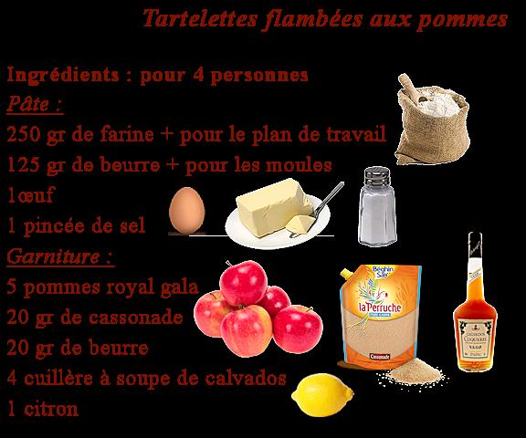 Tartelettes flambées aux pommes