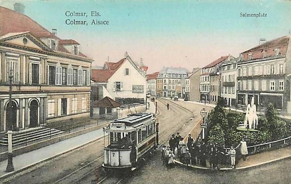 Colmar autrefois : Place du Saumon et Rue des Clefs
