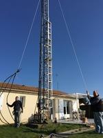 """Préparation des cables Andrew 7/8"""" et mise en place"""