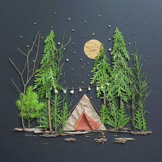 Paysage de forêt en hiver (idée pinterest)