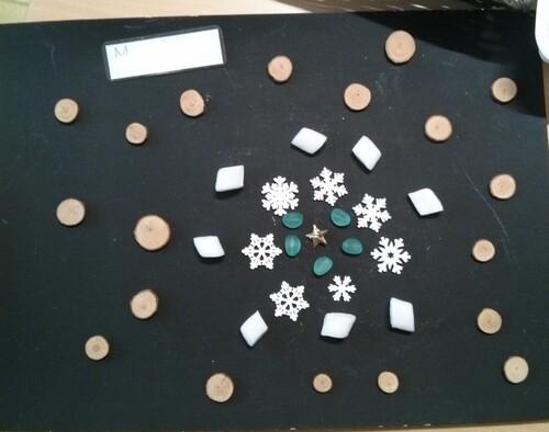 Loose parts / art éphémère thème hiver