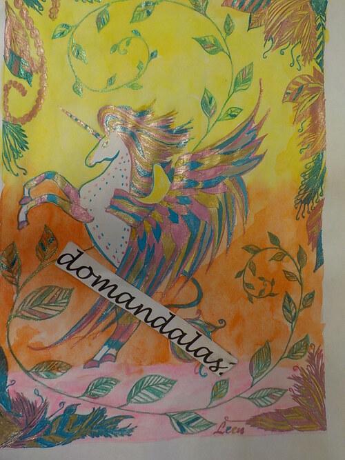 DOMANDALAS  3 versions d'une même  licorne