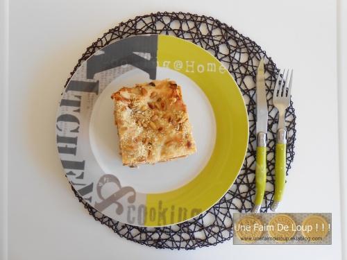 Lasagne de courgette ricotta et pignons