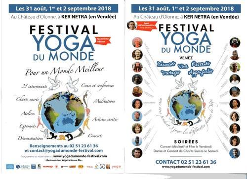 Festival Yoga du Monde en Vendée